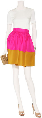 Roksanda Ilincic Hot Pink and Mustard Silk Organza Full Skirt