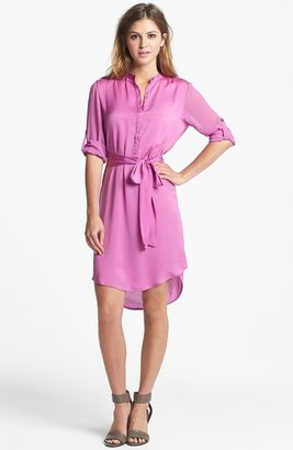 DKNY DKNYC Mixed Media Shirtdress