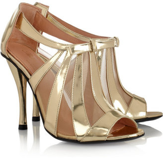 Robert Clergerie Querrye metallic leather and mesh sandals
