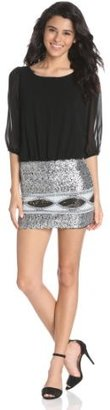 My Michelle Sequin Hearts by Juniors Embellished Skirt Dress