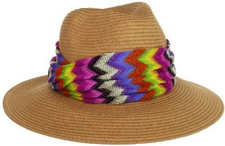 Collection XIIX Women's Zigzag Banded Panama Hat