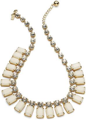 Kate Spade Necklace, Gold-Tone Glass Stone Spray Necklace