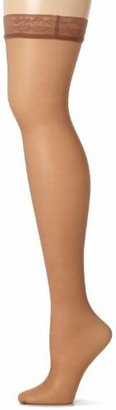Hanes Women's Silk Reflections Thigh Highs, Barely There, E/F