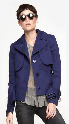 Carven Tweed Collar Trench