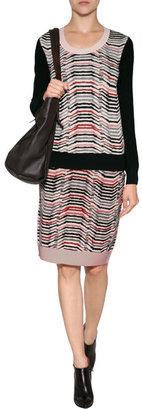 Sonia Rykiel Wool Pullover in Skin/Noir