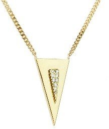 Janis Savitt Small Triangle Necklace with Diamonds