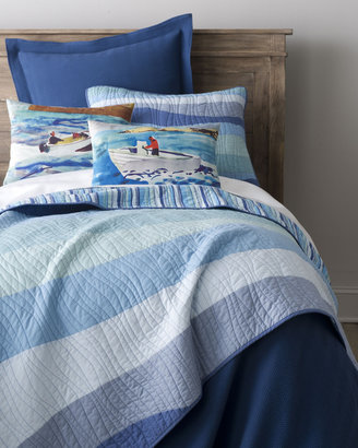 """Pine Cone Hill Speedboat"""" Pillows & """"Ocean Wave"""" Bed Linens"""