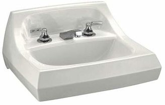 "Kohler Kingston Ceramic 22"" Wall Mount Bathroom Sink with Overflow Sink Finish: White"