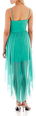 As U Wish Sleeveless Embellished High-Low Dress