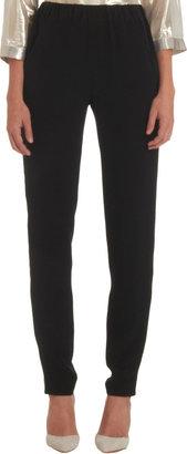 Lisa Perry Tuxedo Pants With Metallic Side Stripe