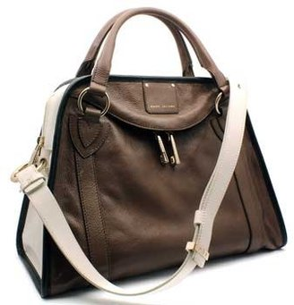 "Marc Jacobs C312036"" Brown Colorblock Shoulder Bag"