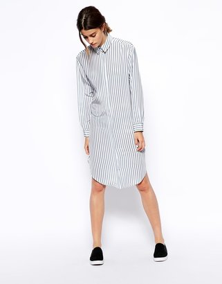 Asos Silk Shirt Dress in Stripe Print