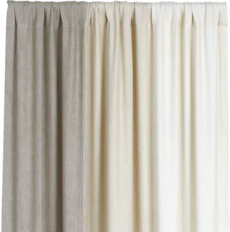 Crate & Barrel Petra Neutral 50x108 Curtain Panel