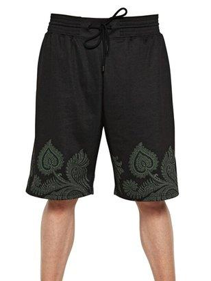 Givenchy Paisley Cotton Twill Bermuda Shorts