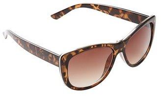 Cat Eye Metal Inlay Sunglasses