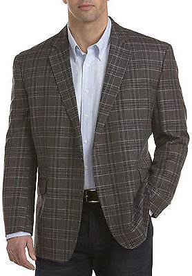 Oak Hill Large Plaid Sport Coat Casual Male XL Big & Tall