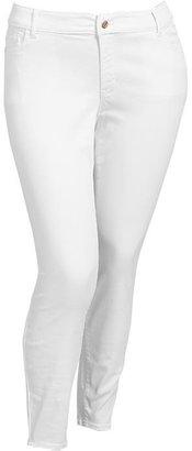 Old Navy Women's Plus The Rockstar White Super Skinny Jeans