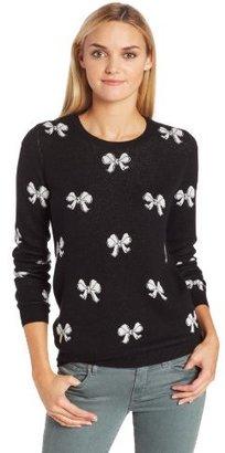 Joie Women's Valera Bow Long-Sleeve Crew-Neck Sweater