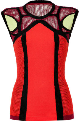 Peter Pilotto Red Multi Knit Top