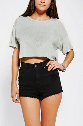 Truly Madly Deeply Embossed Eagle Cropped Tee