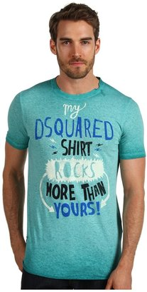 DSquared DSQUARED2 - Sexy Slim Fit Cotton/Linen Tee (Green) - Apparel