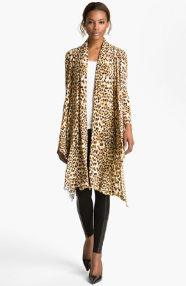 Alice + Olivia 'Saria' Leopard Print Open Front Cardigan