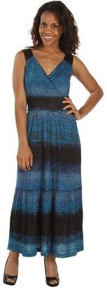 Nic+Zoe Tiny Tiles Maxi Dress (Multi) - Apparel