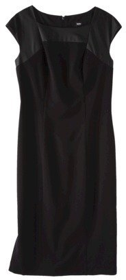 Mossimo Women's Sleeveless Dress w/ Faux Leather - Black