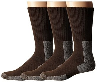 Thorlos Trail Hiking Crew 3 Pair Pack (Chestnut) Men's Crew Cut Socks Shoes