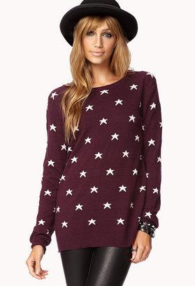 Forever 21 Star Print Sweater