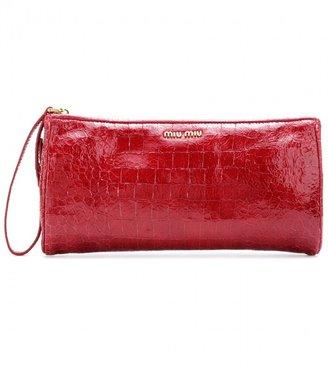 Miu Miu Patent-leather clutch
