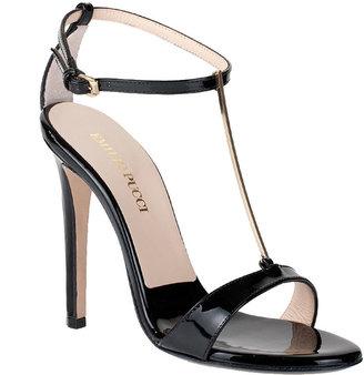 Emilio Pucci T-bar patent sandal
