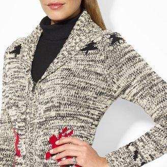 Ralph Lauren Full-Zip Shawl-Collar Cardigan
