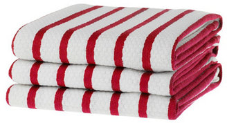 S/6 Whim Casserole Towels, Red