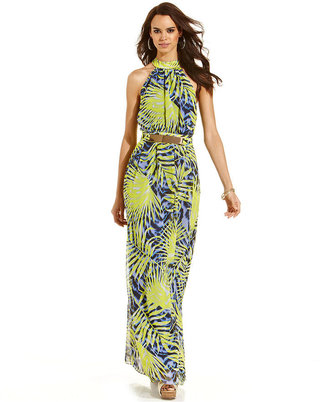 GUESS by Marciano Leaf-Print Maxi Dress