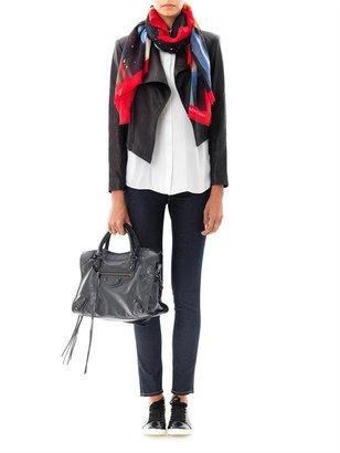 Balenciaga Glitter girl-print scarf