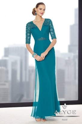 Alyce Paris Mother of the Bride - 29711 Dress in Teal $350 thestylecure.com