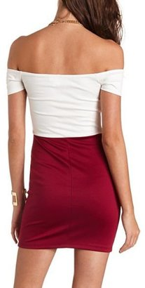 Charlotte Russe Chiffon Bow Body-Con Dress