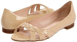 Elie Tahari Ryley Peep Toe (Seashell) - Footwear