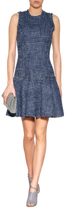Michael Kors Tweed Fringed Dress