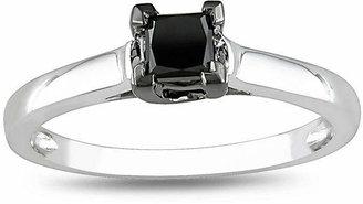 Black Diamond MODERN BRIDE 1/2 CT. Princess Solitaire Ring