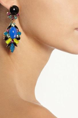Erickson Beamon Girls On Film gold-tone crystal earrings