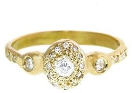 Elisa Solomon Oval Diamond Ring - Yellow Gold