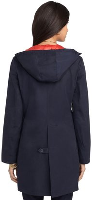 Brooks Brothers Button-Front Hooded Coat