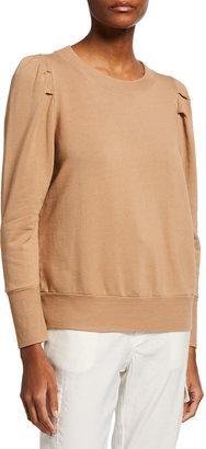 Monrow Super Soft Fleece Sweatshirt w/ Tucked Sleeves