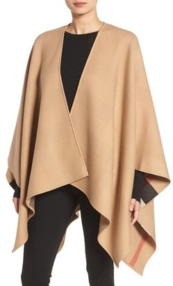 Women's Burberry Reversible Merino Wool Cape $950 thestylecure.com