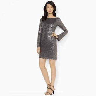 Ralph Lauren Sequined Scoopback Minidress