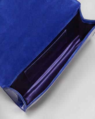 Saint Laurent Belle De Jour Large Clutch Bag, Blue
