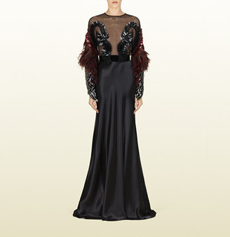 Gucci Heaven's Bird Embroidered Gown