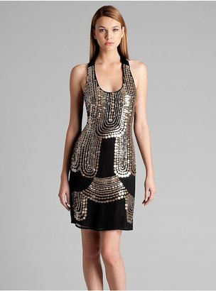 GUESS by Marciano Gold Coin Sequin Dress